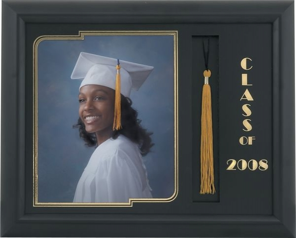321 Blk Satin Graduation Frame to Hold an 8x10 image