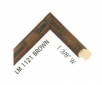 """LM 1121 Brown 1.38"""" Wide"""