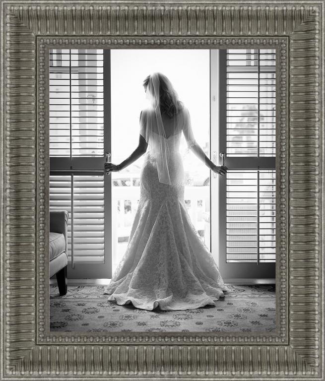 wedding frame for bridal portrait