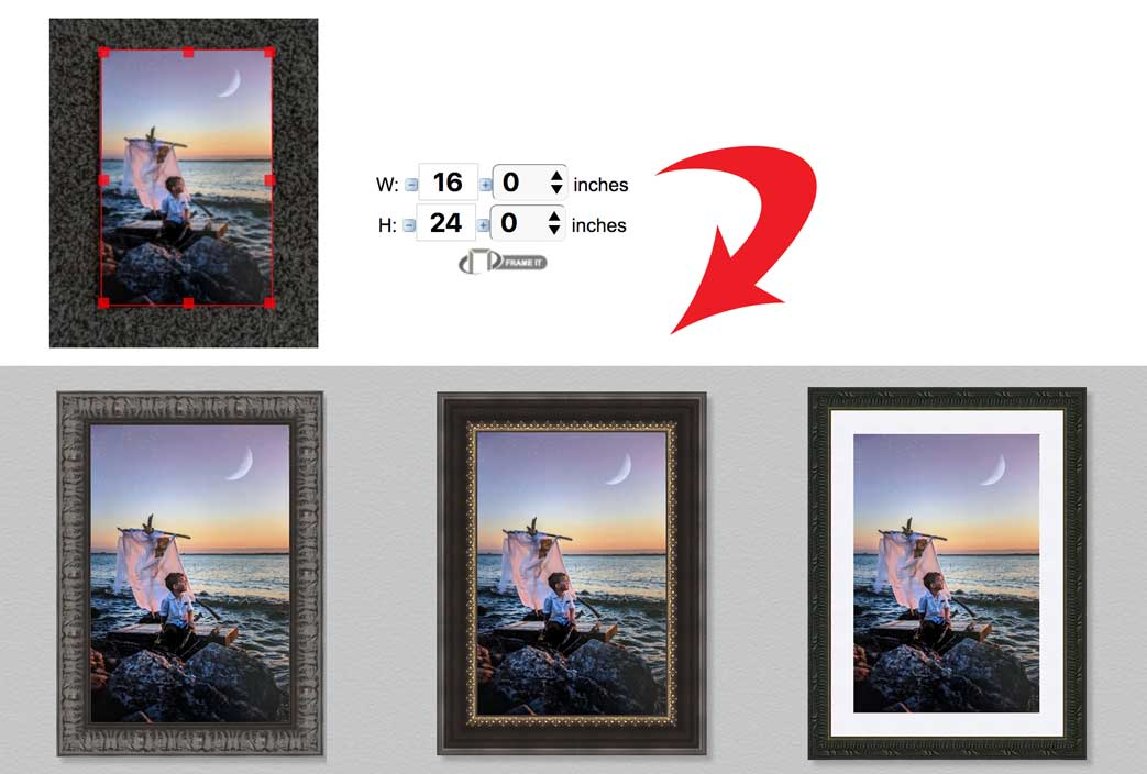Online Framing Preview Frames With Your Existing Art